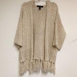 Forever 21 hoodie cardigan sweater